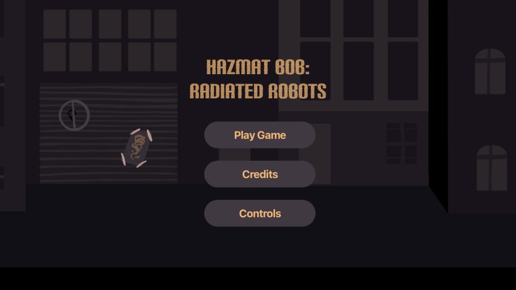 Home Scherm van de game Hazmat Bob: Radiated robots